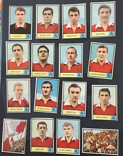 Calciatori Mira 1966/67 - lotto set  16 figurine Mantova con i 2 rari   tifosi