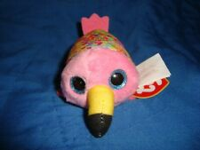 "2019 Mcdonalds Teeny Ty Gilda the Flamingo Plush 2"" tall W/tags"