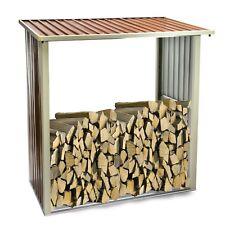 Kaminholz-Regal Oslo für Brennholz Stapelhilfe Holzunterstand Feuerverzinkt