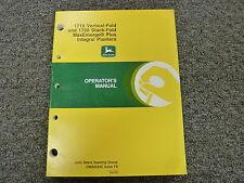 John Deere 1710 & 1720 Integral Planter Owner Owner's Operator Manual OMA62502