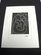 """MATISSE HENRI - REPRODUCTION GRAPHIQUE DE 1987 D'1 OEUVRE DE 1944  """"VISAGE 4"""" /6"""