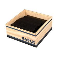 Kapla 40 Box Black Pine Wood Building Blocks Box (c40nr) NEW! #