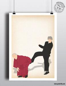FATHER TED - Kick Bishop Brennan Minimalist Minimal Sitcom Poster Posteritty Fr