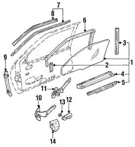 Genuine GM Run Channel Lower Retainer - Driver Door - 10129641