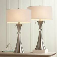 Modern Table Lamps Set of 2 Concave Column Hourglass...