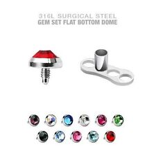 Dermal Anchor 24 Bases & 24 Tops Dermal are 4mm 16g Flat CZ and Base