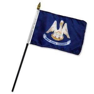 "Louisiana State Flag 4""x6"" Desk Table Stick"