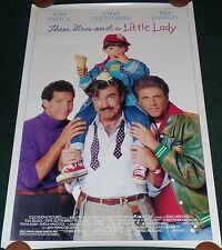 THREE MEN AND A LITTLE LADY 1990 ORIG ROLLED DS 1 SHEET MOVIE POSTER TOM SELLECK