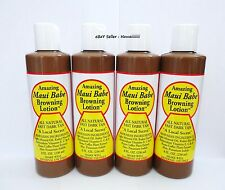 * SHIP FRESH FROM HAWAII * 4 Large Bottle MAUI BABE BROWNING LOTION ALL NATURAL