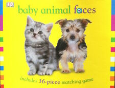 Toy Game DK Book BABY ANIMAL FACES 36 Piece Cards Matching Memory 3+ Pre School