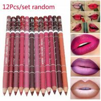 12Pcs/set Women Professional Lipliner Waterproof Lip Liner Pencil 15CM 12 Colors