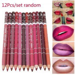 12Pcs/set Professional Lipliner Lip Liner Pencil 15CM 12 Colors Waterproof l