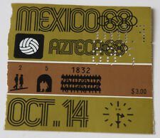 old ticket Olympic Games 1968 football * Spain - Brazil 14.10 Azteca