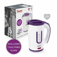 SWAN ELECTRIC TRAVEL KETTLE SMALL COMPACT INC 2 CUPS - CAMPING CARAVAN