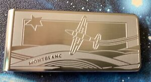BRAND NEW MONTBLANC STAINLESS STEEL MONEY CLIP SAINT EXUPERY LE PETIT PRINCE