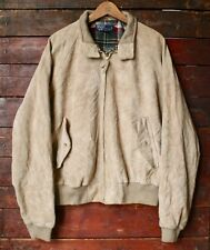 Vintage Ralph Lauren Polo en daim marron cuir Harrington bomber jacket L/XL