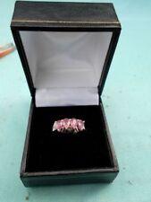 Anelli di lusso con gemme rosa naturale in argento sterling