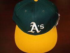 OAKLAND A'S ATHLETICS NEW ERA DIAMOND WOOL FITTED SZ 7 3/4 1990S VINTAGE HAT CAP
