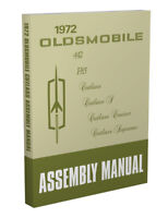 1972 Olds Cutlass and 442 Factory Assembly Manual BOUND Oldsmobile Supreme
