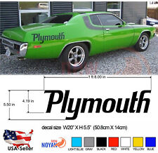 PLYMOUTH DECAL, BY Petty, DODGE,VINYL DIE CUT STICKER