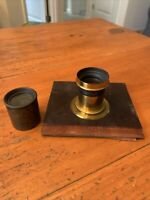 Antique Bausch & Lomb Rapid Rectilinear N22744 4 x 5 Eurygraph Brass Camera Lens