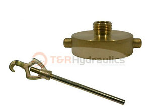 """FIRE HYDRANT ADAPTER COMBO 1-1/2"""" NST(F) x 3/4"""" Garden Hose (M) w/Hydrant Wrench"""
