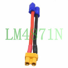 """EC2 Male to XT30 Female Adapter 18# 2"""" wire RC FPV Lipo Battery Quadcopter 2/3S"""