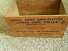 Vintage Western Co. Small Arms Ammunition Empty Wooden Box Xpert 20 Gauge
