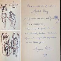 🌓 EO MAURICE CARÊME A cloche-pied 1968 envoi autographe et dessin à MICHEL CIRY