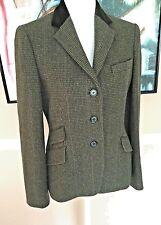 Ralph Lauren New Loden Velvet Collar Fitted Sporting Jacket Sz- 8 Lux Soft Wool