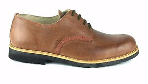 Portuguese Handmade Lace-up Leather Shoes with Recycled Car Tyres Rubber Soles