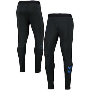 Hummel Mens Everton Football Training Pants Track Bottoms Trousers - Black
