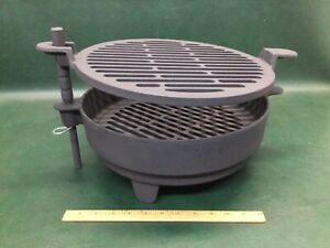 Lodge Cast Iron Outpost Sportsman Grill 510 w/ 512 Top & 513 Insert