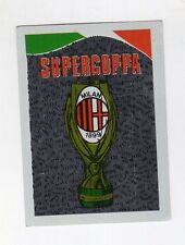figurina CALCIATORI EUROFLASH 1990-91 SCUDETTO SUPERCOPPA MILAN
