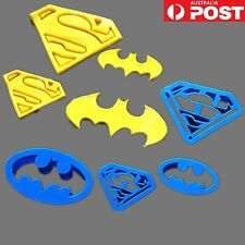 4 x Batman Superman Cookie Cutters Mould Mold Biscuit Supehero Cupcake Play Doh