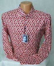 John Lennon Art Design Casual Button Down Shirt Cotton MSRP $95 NWT Nice! - XL