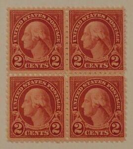 Scott#: 579 - George Washington 2c 1923 Block of Four MNH OG SCV $330