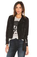 Leather Jacket Women Black Suede Biker Motorcycle Custom Made Size S M L XL XXL
