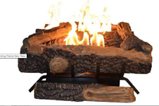 Oakwood 24 in. Vent Free Natural Gas Fireplace Logs New Flame Adjusting