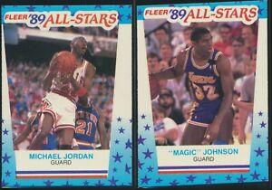 (14) 1989 Fleer Basketball Sticker Lot Jordan, Magic, Bird, Barkley, Malone