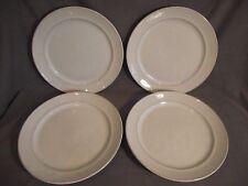Set of 4 Pottery Barn Cambria Stone White Salad Plates