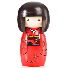 RED Happy Girl giapponese KOKESHI DOLL