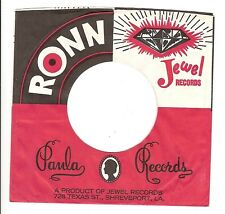 45RPM, RECORD SLEEVE ONLY ' PAULA ' RONN ' JEWEL LABELS ' VG