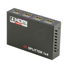 HDMI Splitter 1 in 4 Out 3D 1080p 4K*2K 1x4 Video Split Amplifier Hub v1.4b