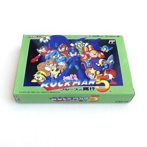 ROCKMAN 5 Mega man - Empty box replacement spare case with tray Capcom Famicom