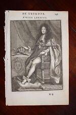 ✒ 1683 MANESSON MALLET portrait de Louis XIV roi de FRANCE par Giffart