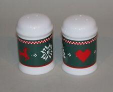 Northwoods Christmas China 1992 JC Penney Dinnerware Salt \u0026 Pepper Shakers MIB & Christmas Dinnerware | eBay