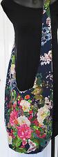 Large cotton tote bag,Hobo Shoulder Crossbody Navy Flowers &Butterflies