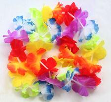 10pcs Hawaiian Beach Luau Party Flower Garland Lei Leis Necklace Colorful Deco