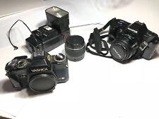 Fotocamera Olympus OM101 + Fotocamera Yashica FX-103 Program +Acc.
